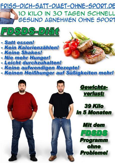 Friss Dich satt Diät ohne Sport als Buch (kartoniert)