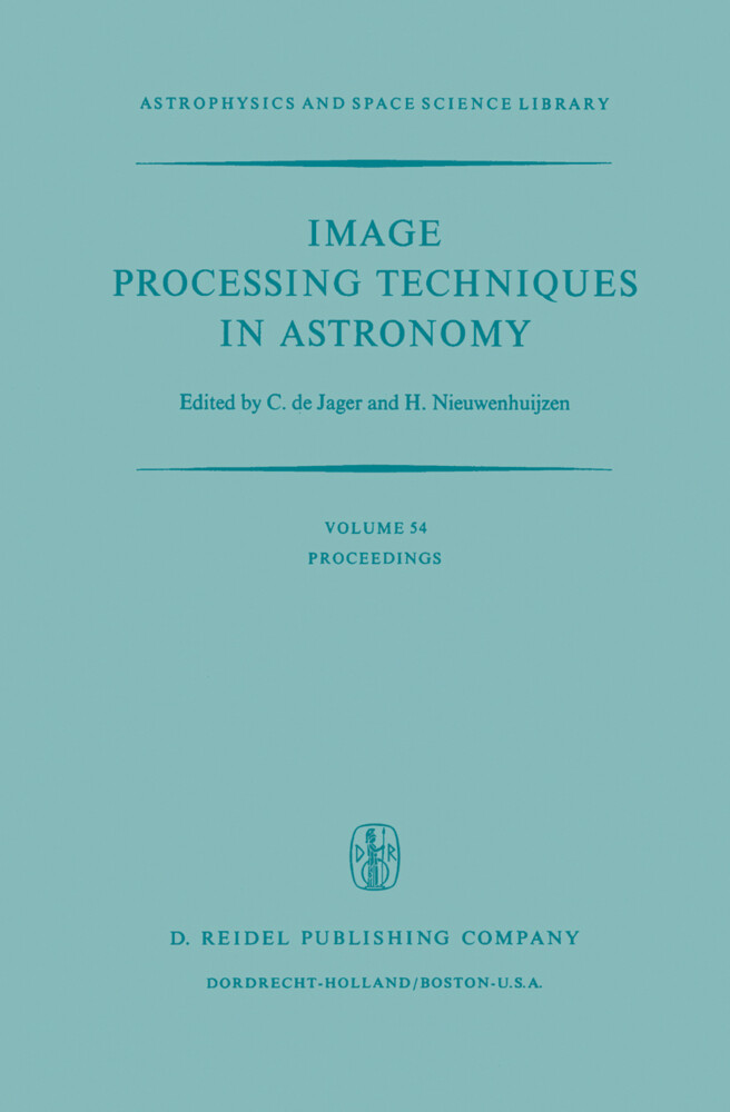 Image Processing Techniques in Astronomy als Buch
