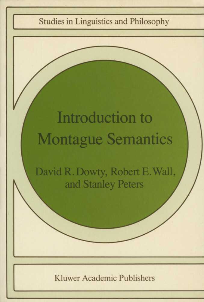 Introduction to Montague Semantics als Buch