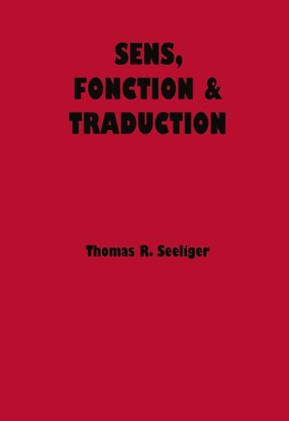 Sens, Fonction & Traduction als Buch