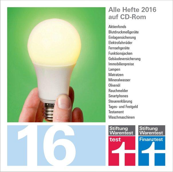 test und Finanztest Archiv CD-Rom 2016
