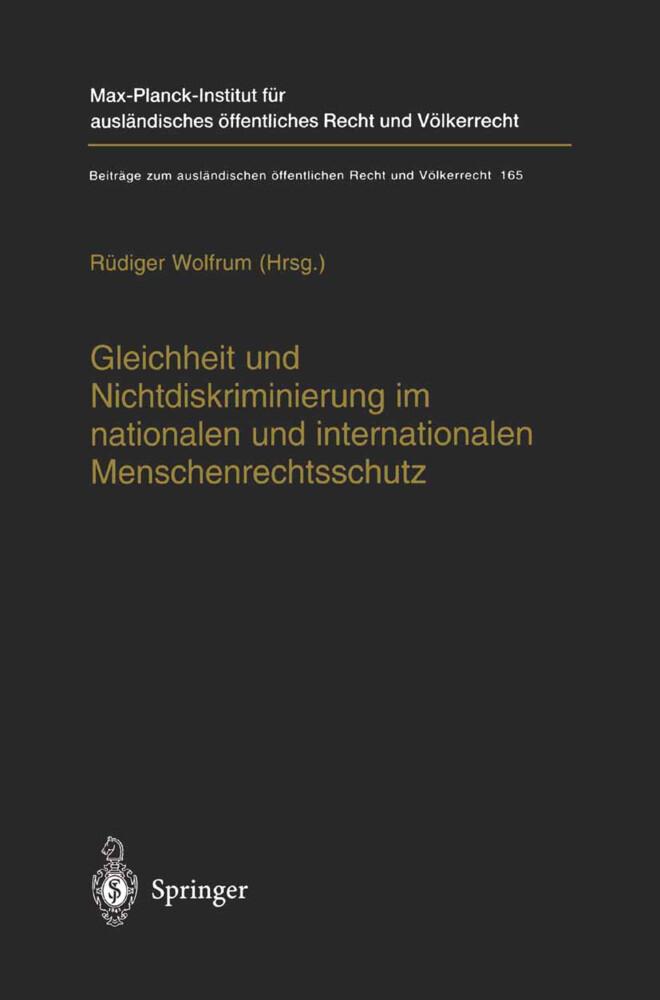 Gleichheit und Nichtdiskriminierung im nationalen und internationalen Menschenrechtsschutz als Buch