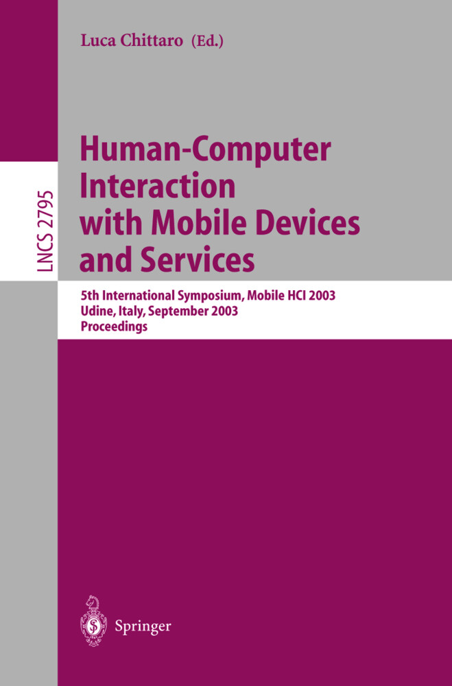 Human-Computer Interaction with Mobile Devices and Services als Buch