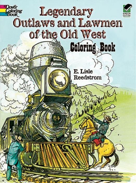 Legendary Outlaws and Lawmen of the Old West Coloring Book als Taschenbuch