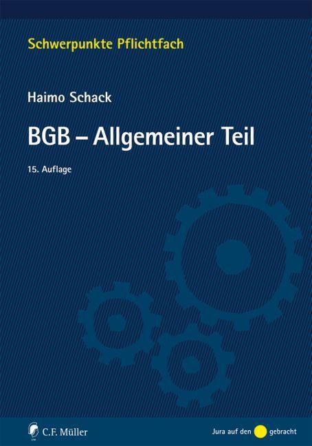 BGB-Allgemeiner Teil als Buch