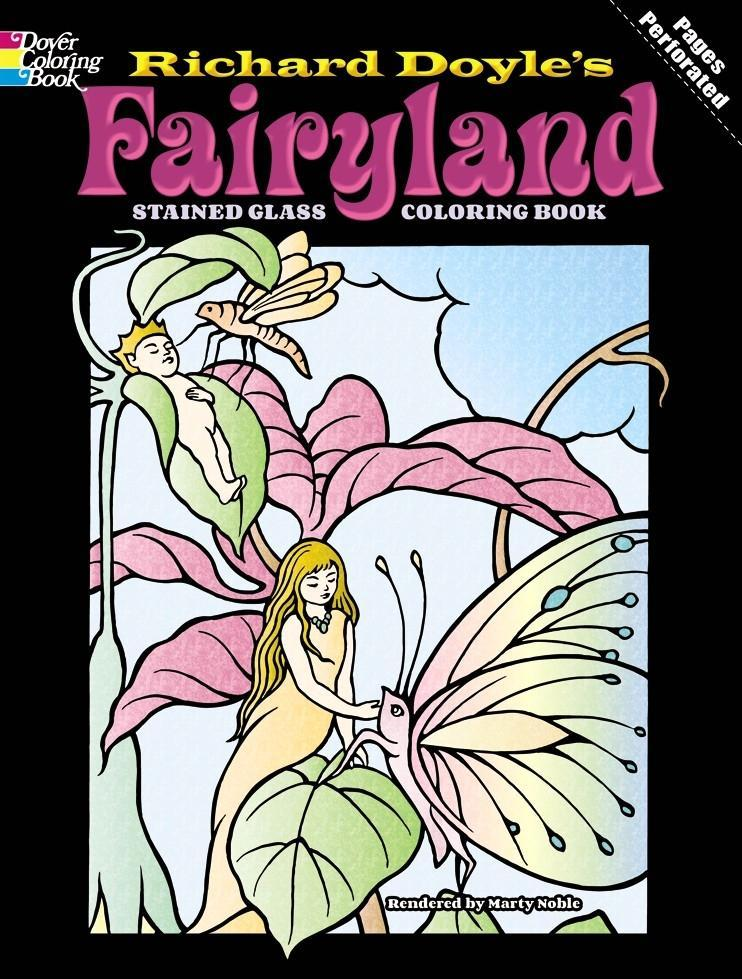 Fairyland Stained Glass Coloring Book als Taschenbuch
