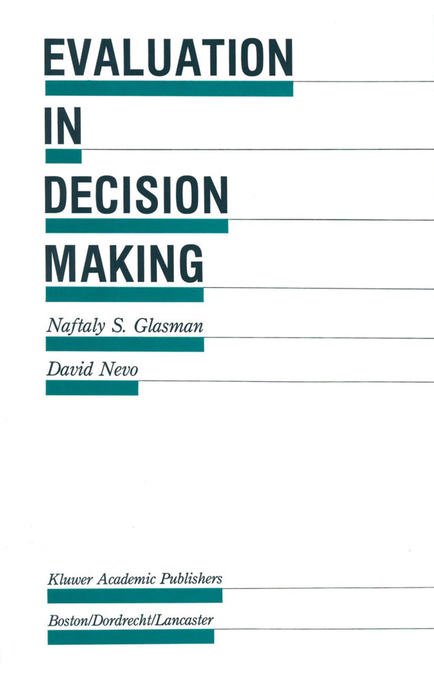 Evaluation in Decision Making als Buch