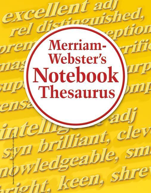 Merriam-Webster's Notebook Thesaurus als Taschenbuch