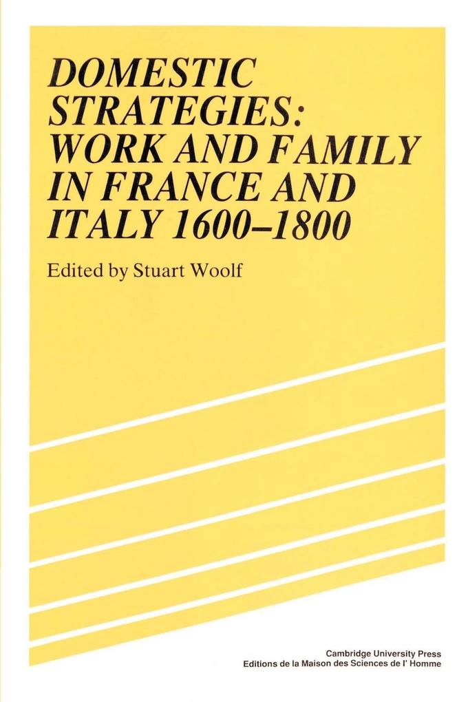 Domestic Strategies: Work and Family in France and Italy, 1600 1800 als Buch