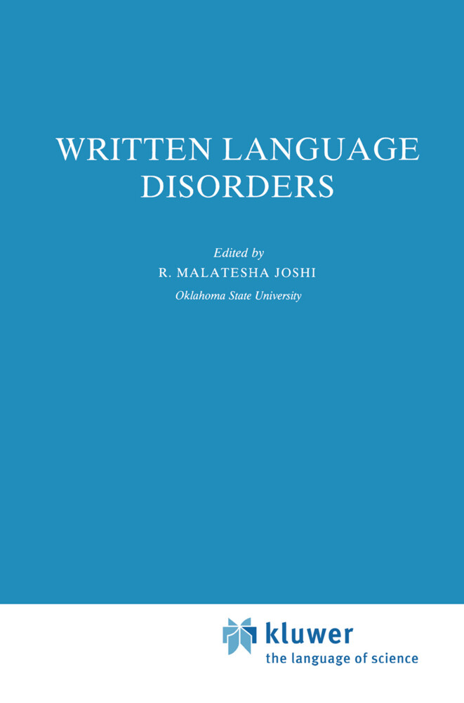 Written Language Disorders als Buch