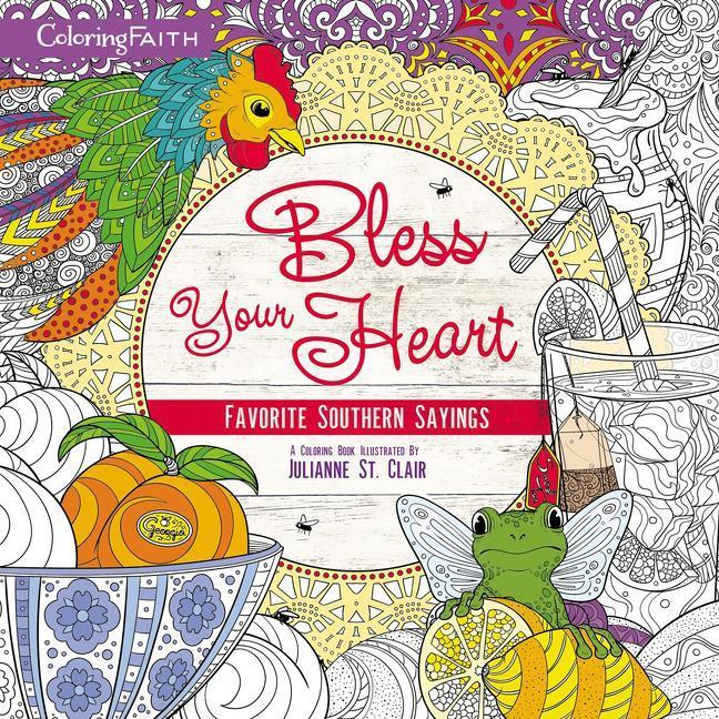 Bless Your Heart Adult Coloring Book als Taschenbuch