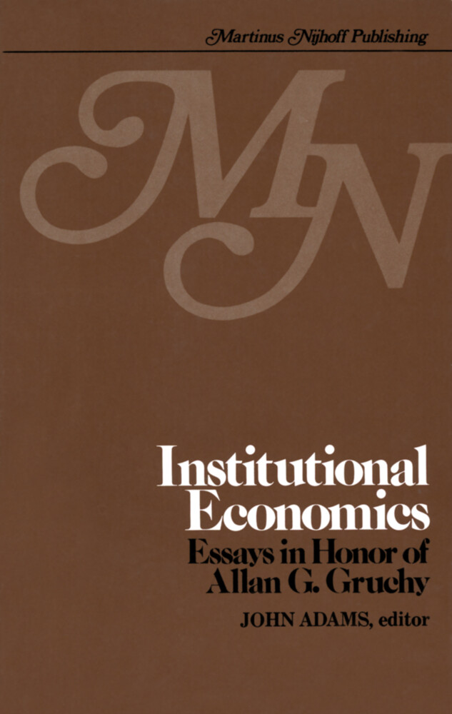 Institutional Economics als Buch