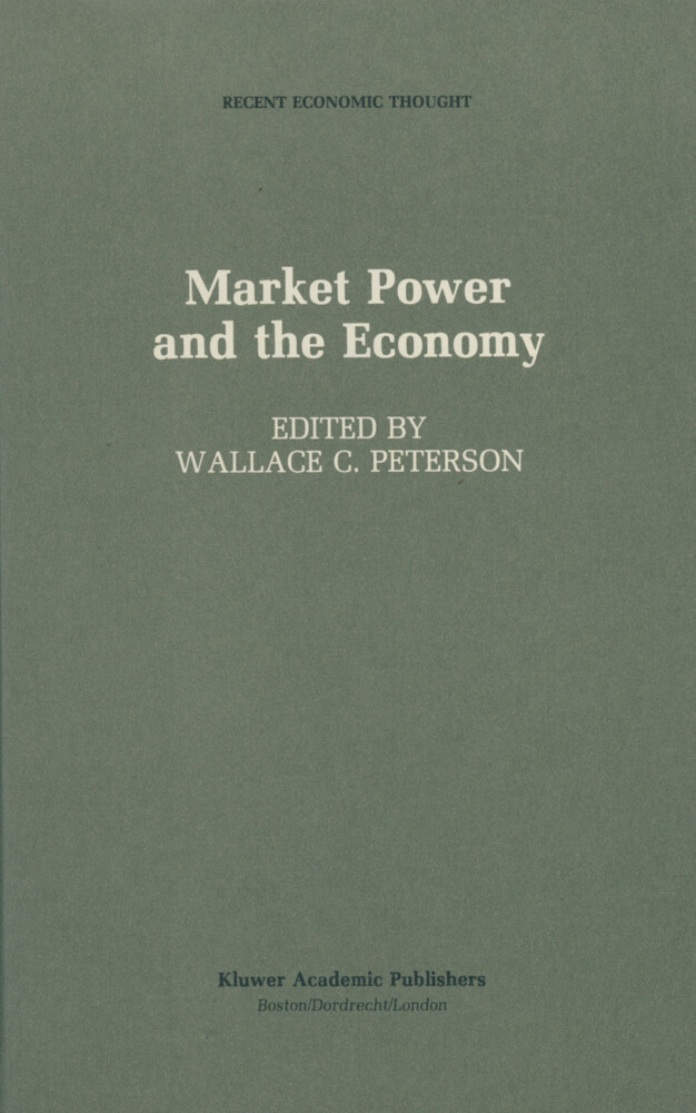 Market Power and the Economy als Buch