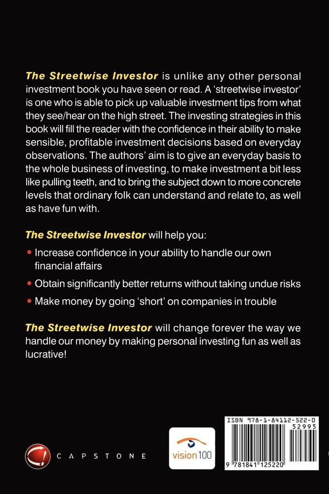 The Streetwise Investor: Extraordinary Investing for Ordinary People als Buch