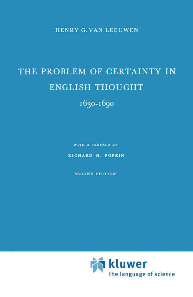 The Problem of Certainty in English Thought 1630-1690 als Buch