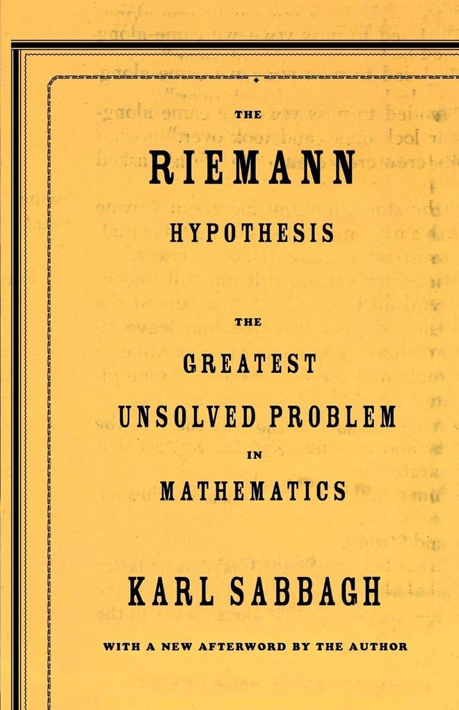 The Riemann Hypothesis als Taschenbuch