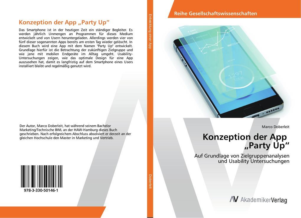 Konzeption der App Party Up als Buch von Marco ...