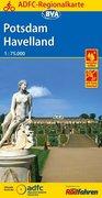 ADFC-Regionalkarte Potsdam Havelland mit Tagestouren-Vorschlägen, 1:75.000