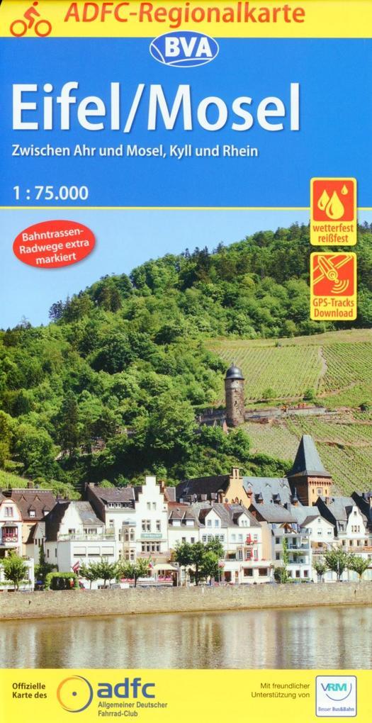 ADFC-Regionalkarte Eifel/ Mosel mit Tagestouren...