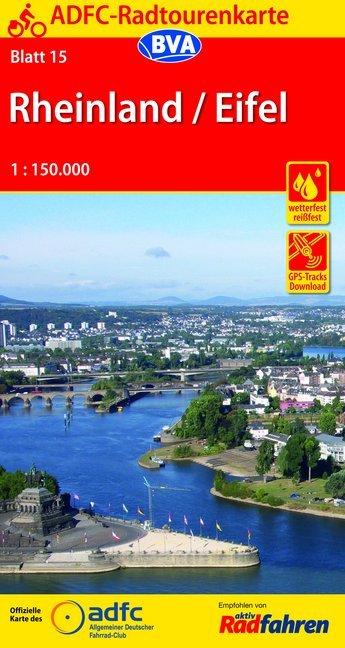 ADFC-Radtourenkarte 15 Rheinland / Eifel 1 : 15...