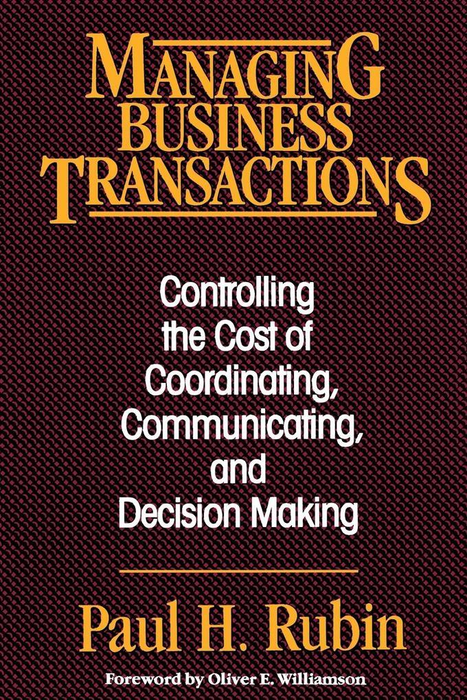 Managing Business Transactions als Taschenbuch