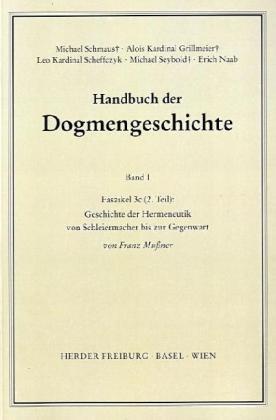 Handbuch der Dogmengeschichte I/3c Tl. 2 als Buch