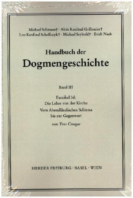 Handbuch der Dogmengeschichte III/3d als Buch