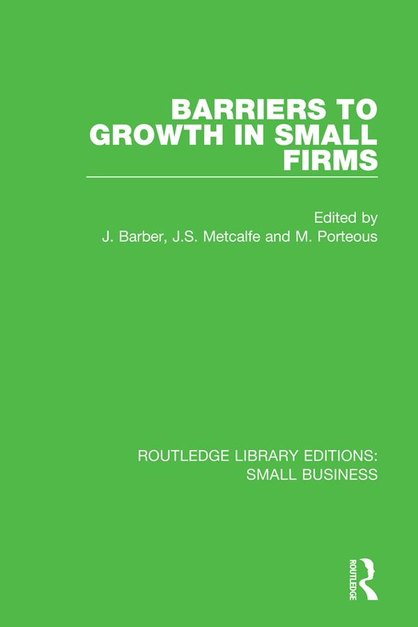 Barriers to Growth in Small Firms als eBook Dow...