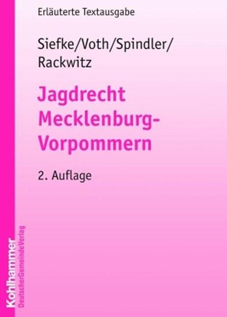 Jagdrecht Mecklenburg-Vorpommern als Buch