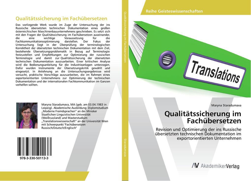 Qualitätssicherung im Fachübersetzen als Buch v...