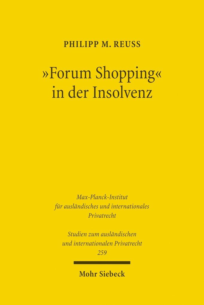 ´Forum Shopping´ in der Insolvenz als eBook Dow...