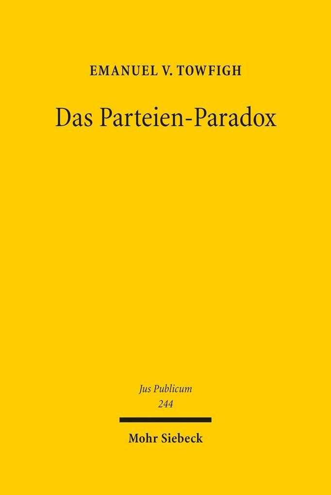 Das Parteien-Paradox als eBook Download von Ema...