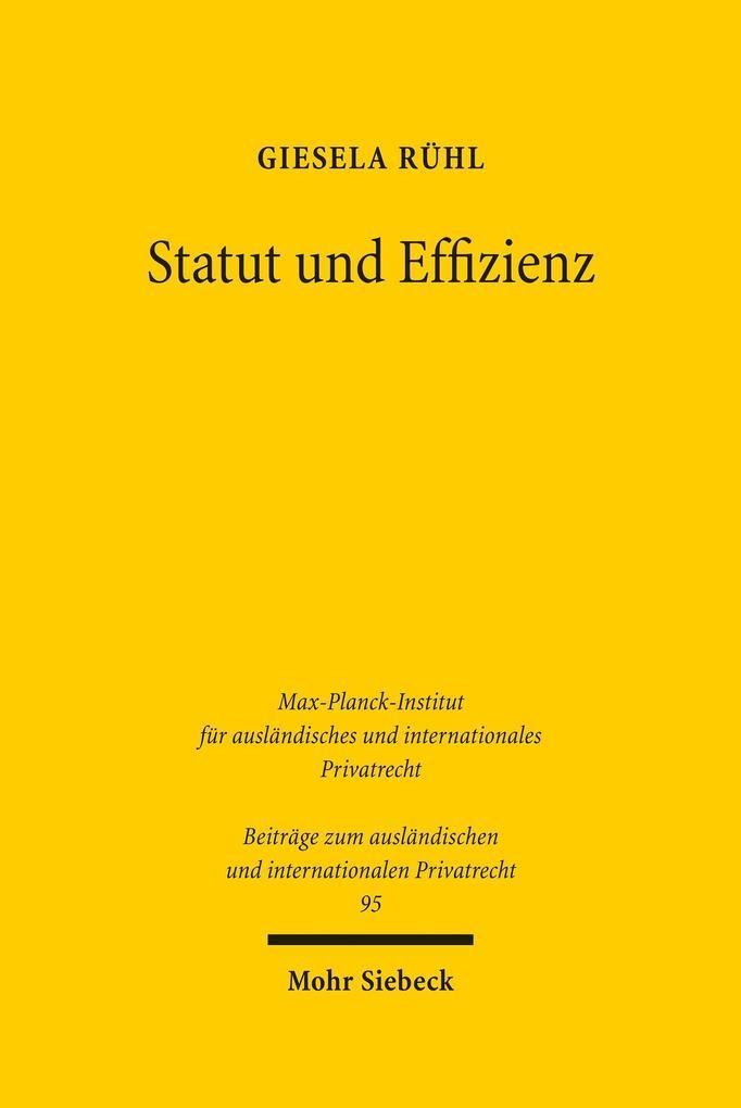 Statut und Effizienz als eBook Download von Gie...