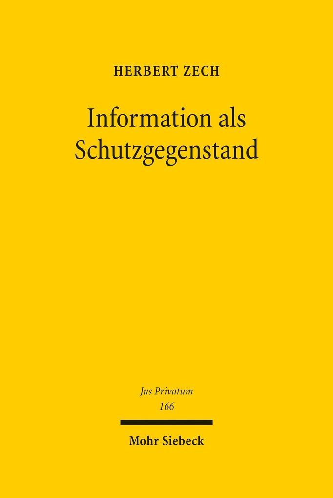 Information als Schutzgegenstand als eBook Down...