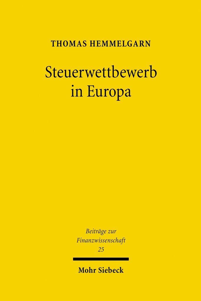 Steuerwettbewerb in Europa als eBook Download v...