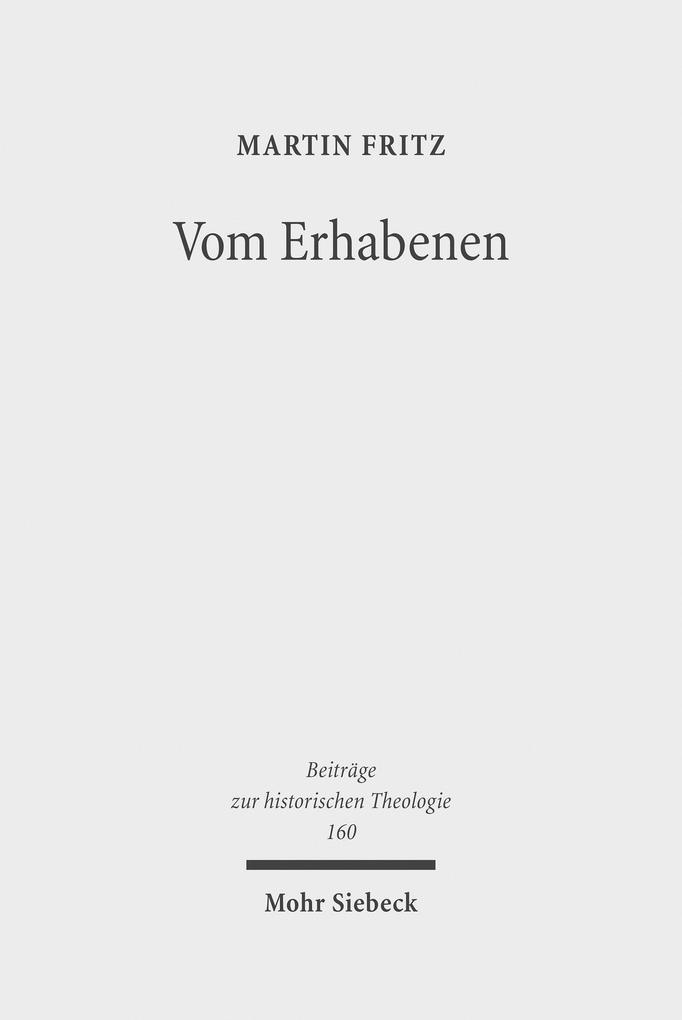 Vom Erhabenen als eBook Download von Martin Fritz