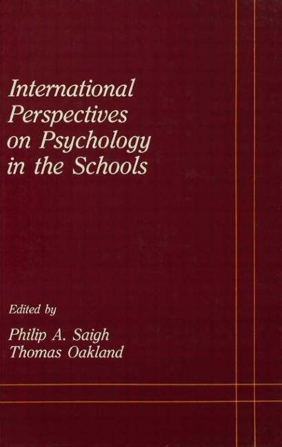 International Perspectives on Psychology in the Schools als Buch