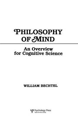 Philosophy of Mind: An Overview for Cognitive Science als Taschenbuch