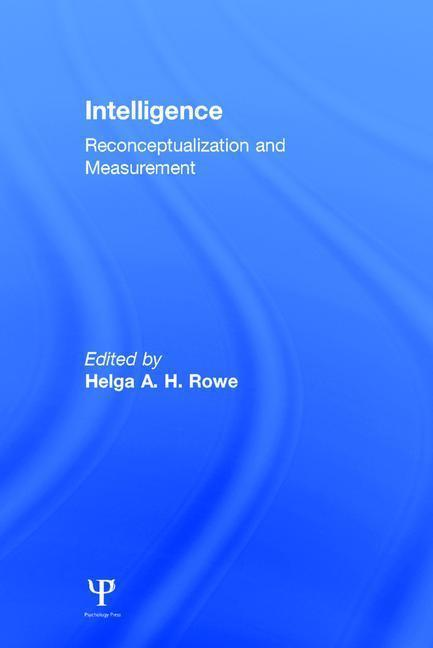 Intelligence: Reconceptualization and Measurement als Buch