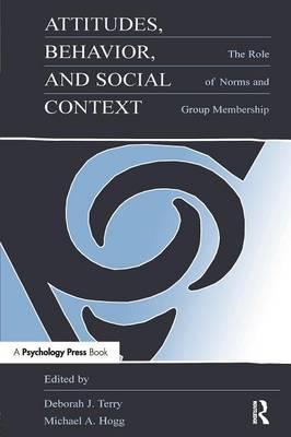 Attitudes, Behavior, and Social Context als Taschenbuch