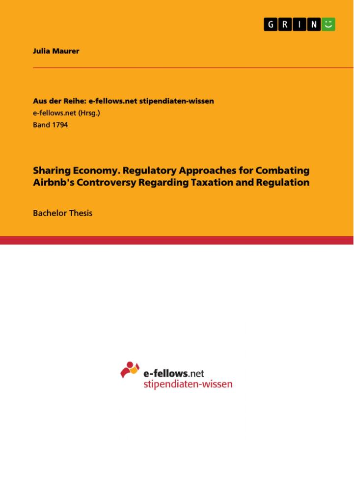 Sharing Economy. Regulatory Approaches for Comb...