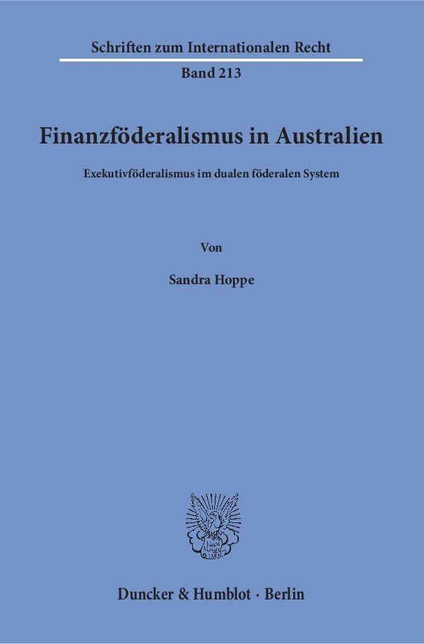 Finanzföderalismus in Australien als Buch von S...
