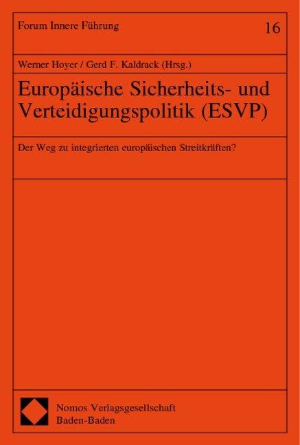 Europäische Sicherheits- und Verteidigungspolitik (ESVP) als Buch