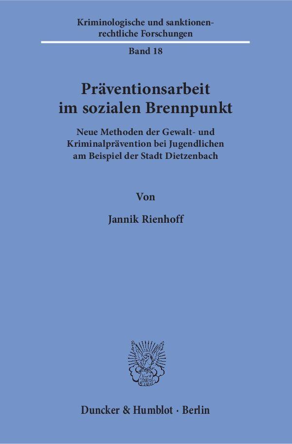 Präventionsarbeit im sozialen Brennpunkt als Bu...