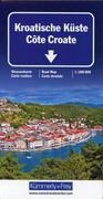 KuF Kroatische Küste 1 : 200 000. Straßenkarte