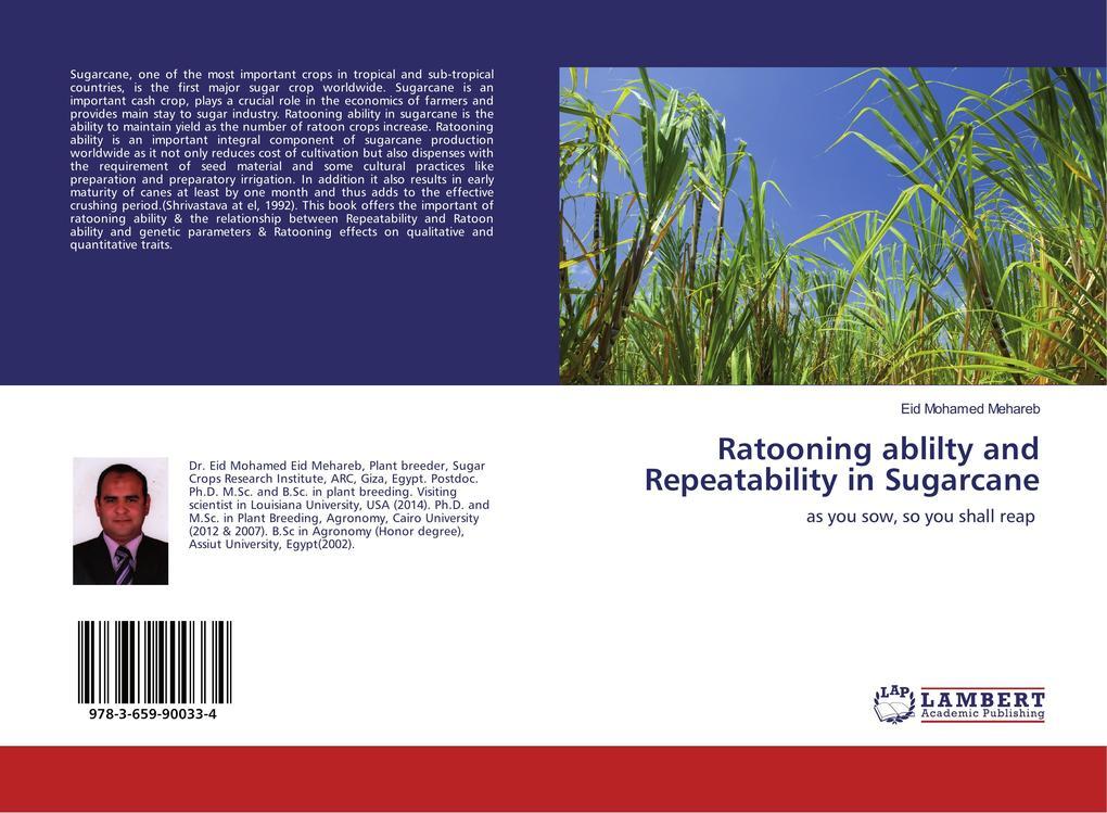 Ratooning ablilty and Repeatability in Sugarcane als Buch (gebunden)