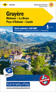 KuF Schweiz Wanderkarte 16 Gruyère - Moléson - La Broye -Pays d'Enhaut - Leysin 1 : 60 000