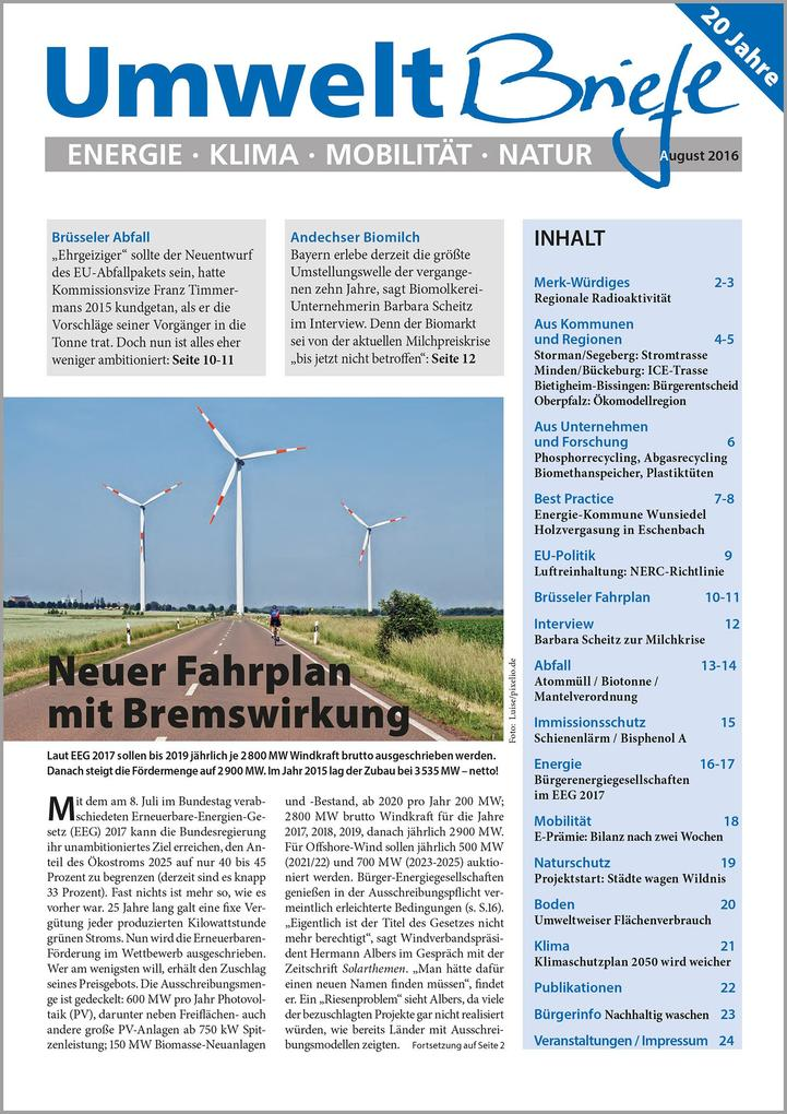 E-Paper Zeitschrift UmweltBriefe Heft August 20...