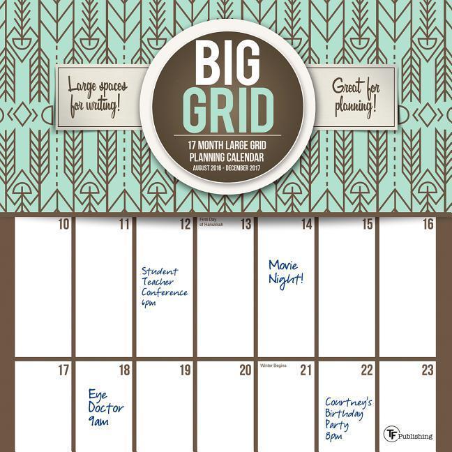 Cal 2017 Big Grid Design 17-Month als Kalender