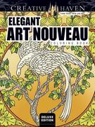 Elegant Art Nouveau Coloring Book